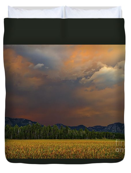 Tormented Sky Duvet Cover by Mitch Shindelbower