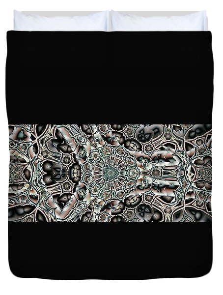 Torn Patterns Duvet Cover by Ron Bissett