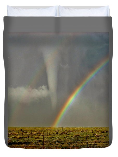 Tornado And The Rainbow II  Duvet Cover