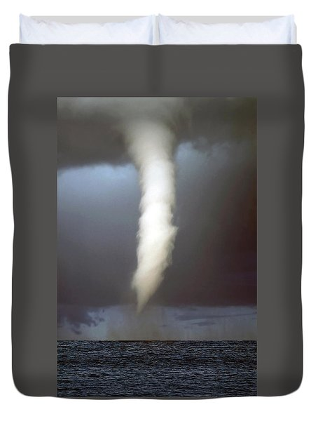 Tornado Funnel Duvet Cover by Sally Weigand