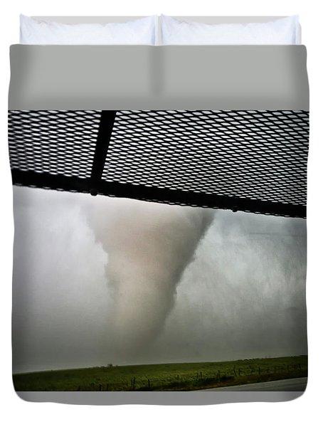 Tornado Near Yorkton Sk. Duvet Cover