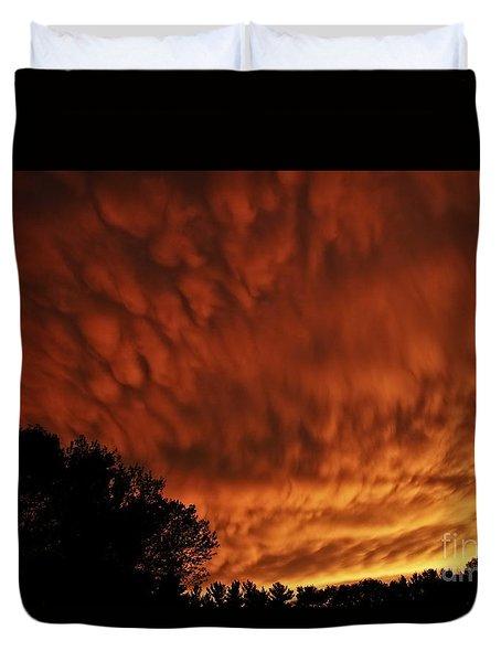 Tornado Warning Duvet Cover