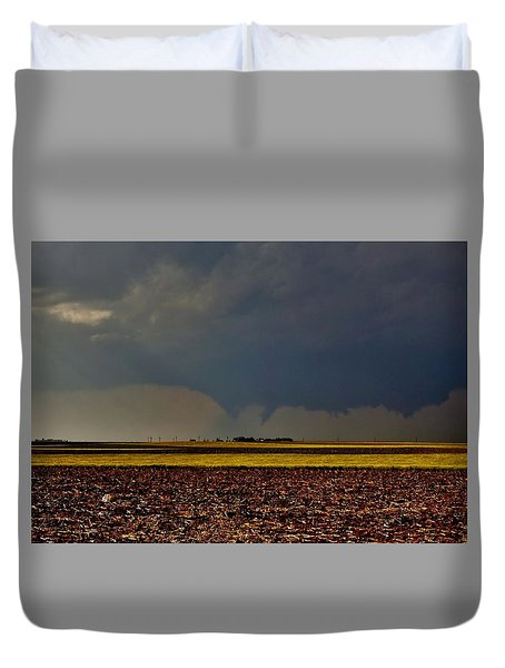 Duvet Cover featuring the photograph Tornadoes Across The Fields by Ed Sweeney