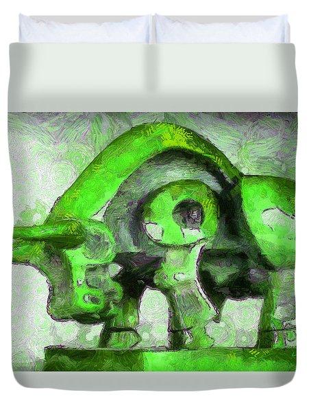 Toro Caminando Green - Da Duvet Cover