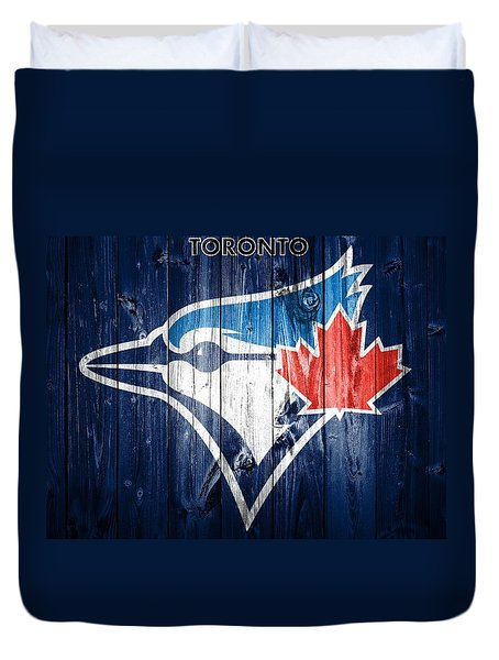 Toronto Blue Jays Barn Door Duvet Cover by Dan Sproul