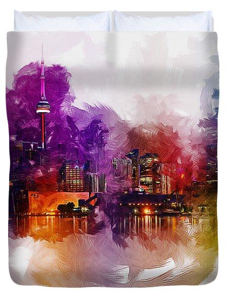 Toronto Canada Skyline Duvet Cover