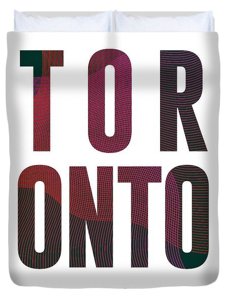 Toronto, Canada - City Name Typography - Minimalist City Posters Duvet Cover