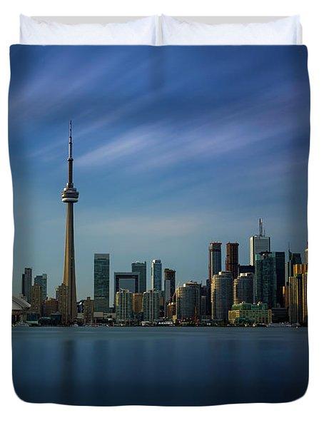 Toronto Cityscape Duvet Cover