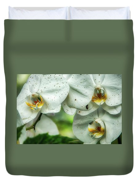 Toronto Orchids Duvet Cover