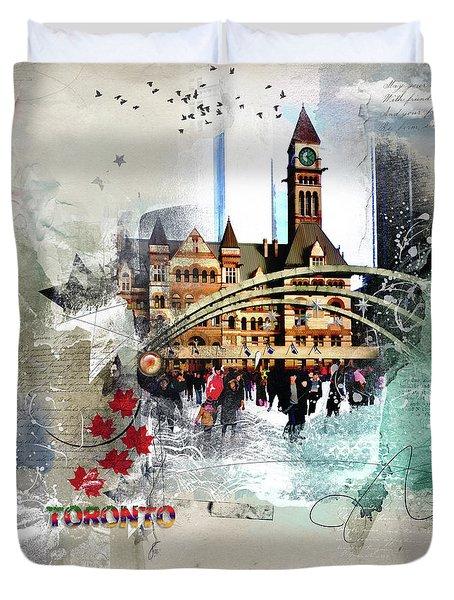 Toronto Skating Duvet Cover