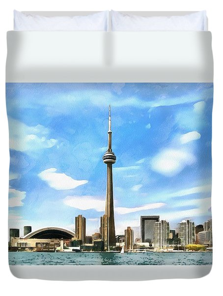 Toronto Waterfront - Canada Duvet Cover