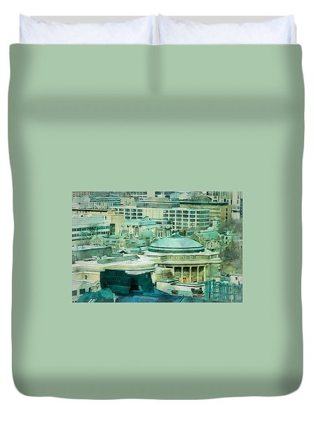 Toronto Window View Duvet Cover