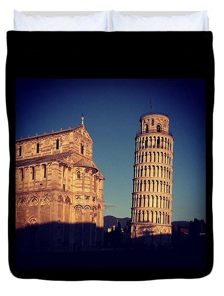 Tower Of Pisa Duvet Cover