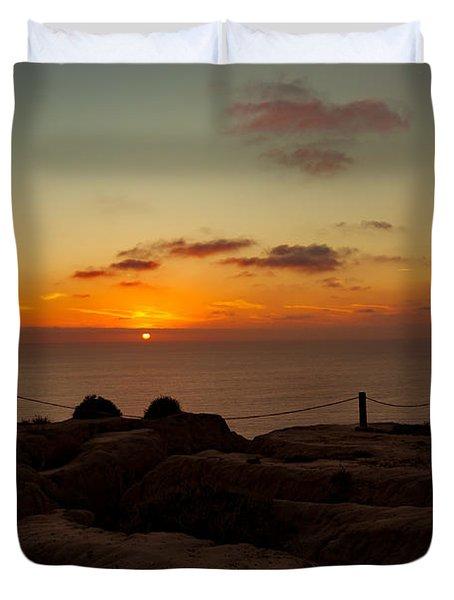Torrey Pine Glider Port Sunset Duvet Cover