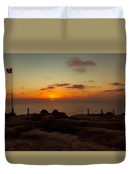Torrey Pine Glider Port Sunset Duvet Cover