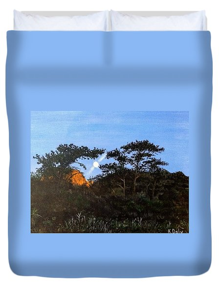 Torrey Pines In The Morning Duvet Cover