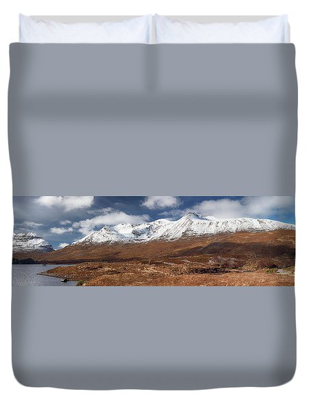 Duvet Cover featuring the photograph Torridon Panorama by Grant Glendinning