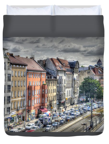 Duvet Cover featuring the photograph Torstrasse Berlin by Uri Baruch