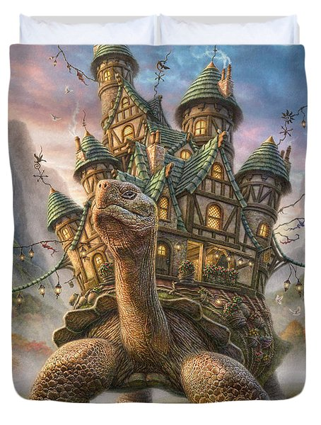 Tortoise House Duvet Cover by Phil Jaeger