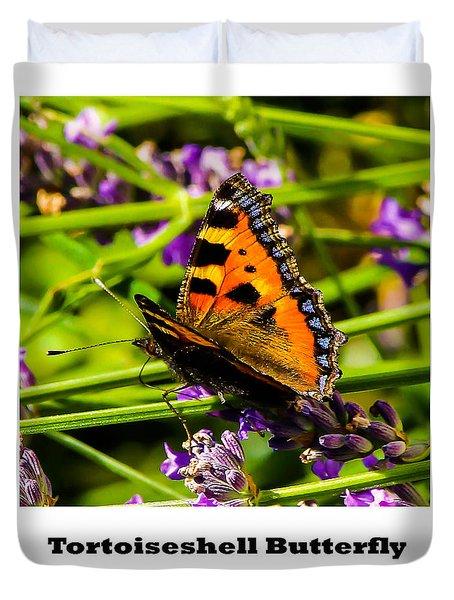 Tortoiseshell Butterfly. Duvet Cover
