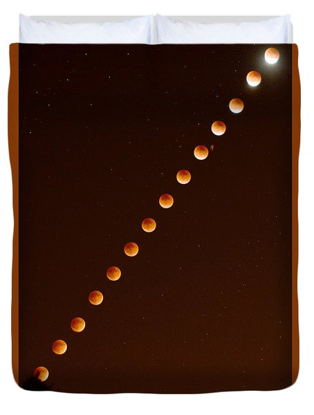 Total Lunar Eclipse September 27 2015 Duvet Cover