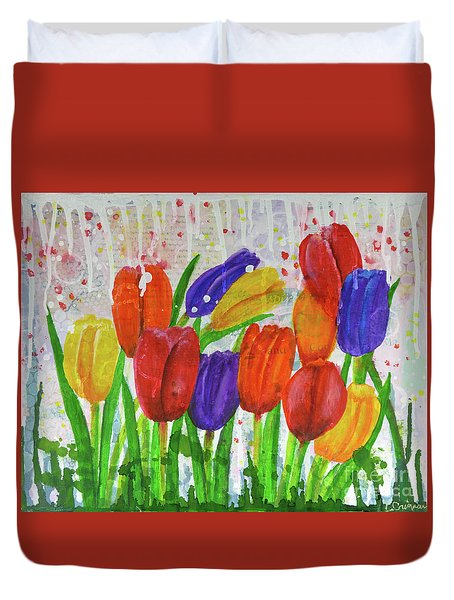 Totally Tulips Duvet Cover