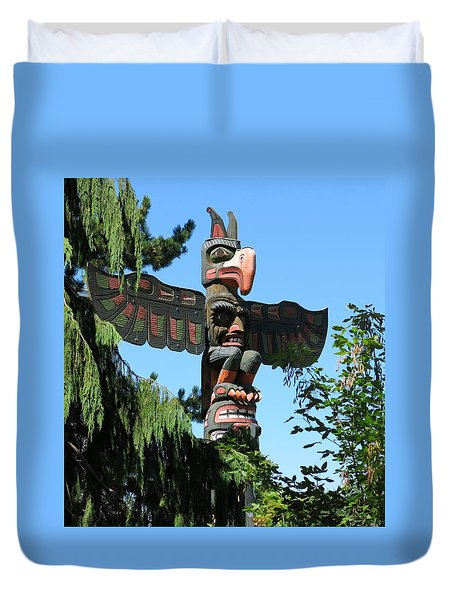 Totem Pole Duvet Cover