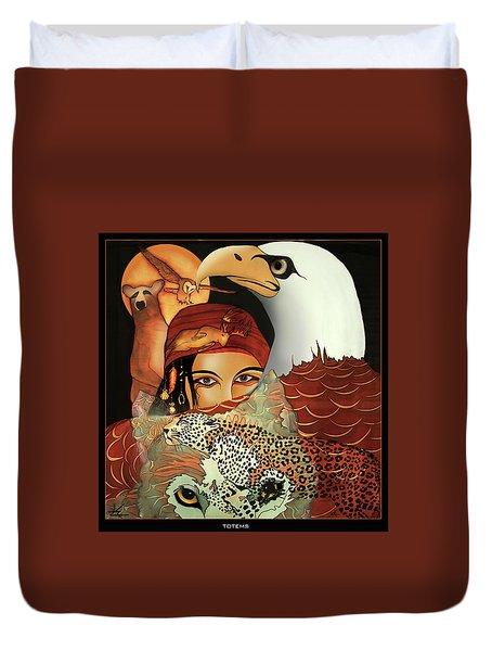 Totems Duvet Cover