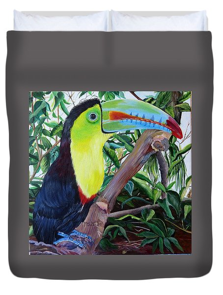 Toucan Portrait Duvet Cover