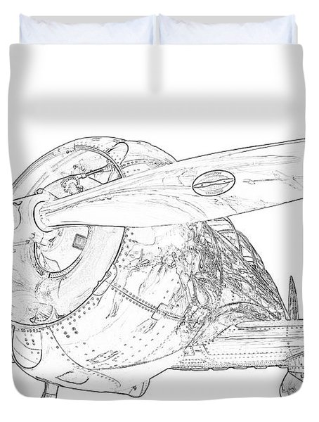 Touch And Go Duvet Cover