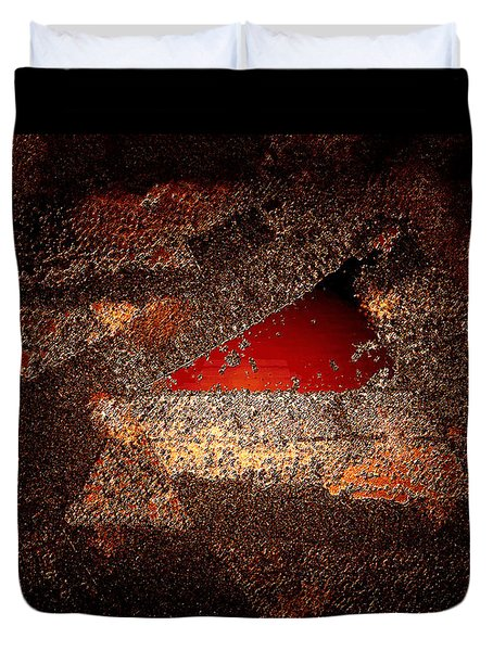 Duvet Cover featuring the digital art Touch Of Brown by Paula Ayers