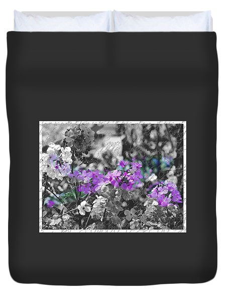Touch Of Phlox Duvet Cover
