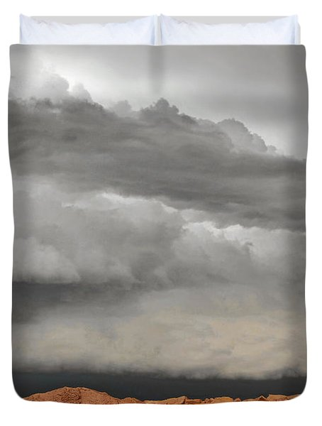 Touch The Clouds Duvet Cover by Christine Till