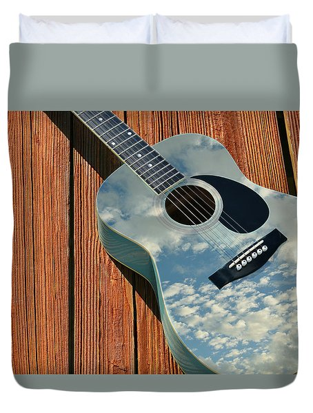 Duvet Cover featuring the photograph Touch The Sky by Laura Fasulo