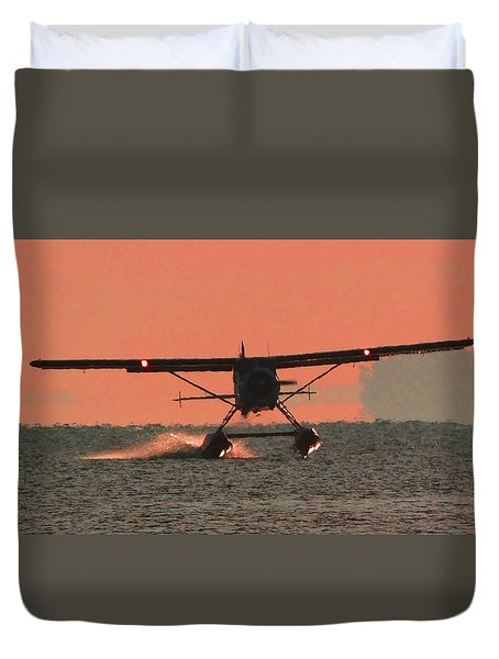 Touchdown Duvet Cover by Mark Alan Perry