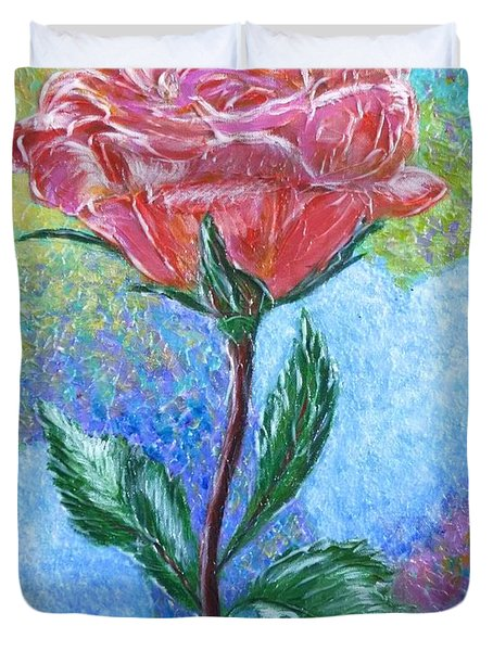 Touched By A Rose Duvet Cover