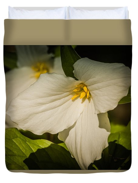 Touched By A Trillium Duvet Cover