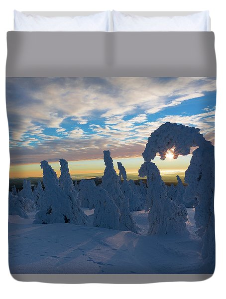 Touched From The Winter Sun Duvet Cover