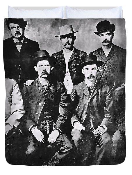 Tough Men Of The Old West Duvet Cover by Daniel Hagerman