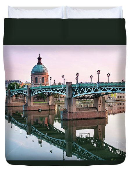Duvet Cover featuring the photograph Toulouse At Sunset by Elena Elisseeva