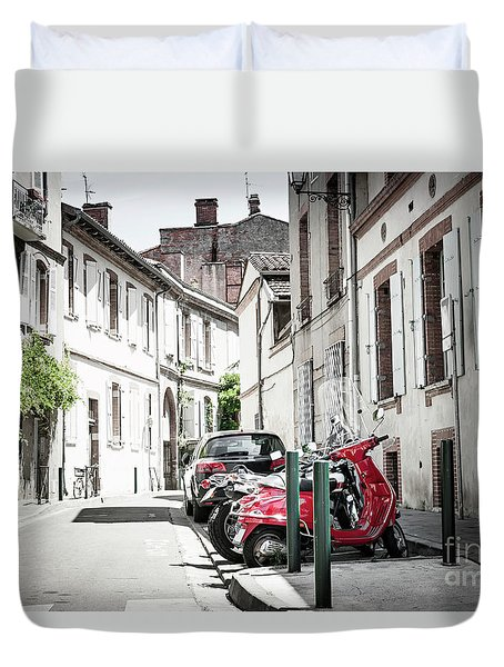 Duvet Cover featuring the photograph Toulouse Street by Elena Elisseeva