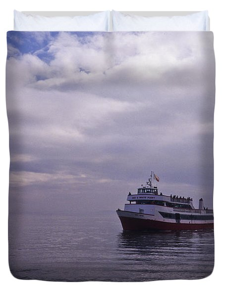 Tour Boat San Francisco Bay Duvet Cover