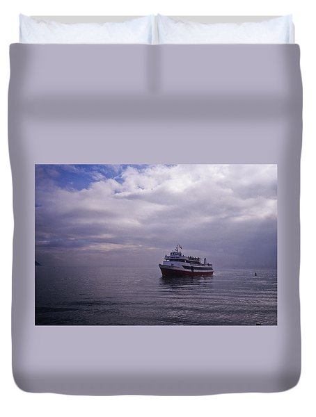 Tour Boat San Francisco Bay Duvet Cover