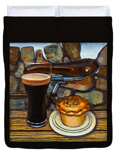 Tour De Yorkshire Pie N't Pint Duvet Cover by Mark Jones