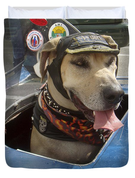 Tourist Dog 2 Square Duvet Cover