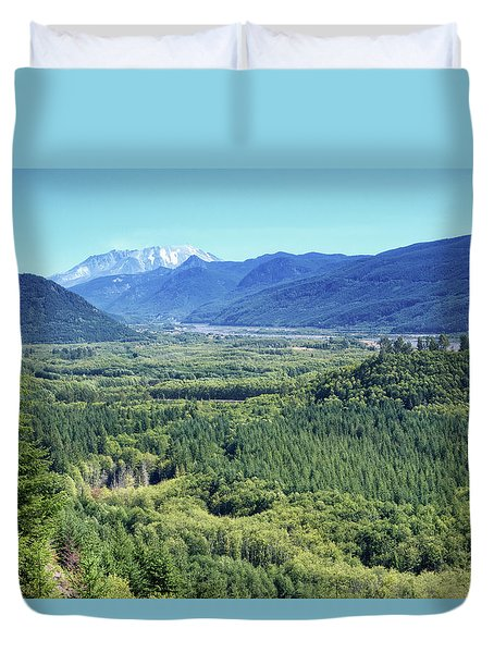 Toutle Valley, Wa Duvet Cover