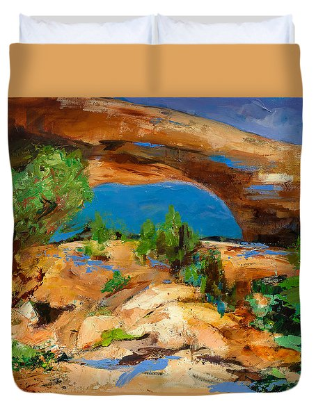 Toward The Arch  Duvet Cover by Elise Palmigiani