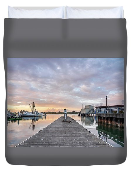 Duvet Cover featuring the photograph Toward The Dusk by Greg Nyquist