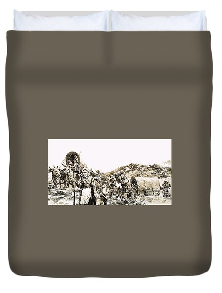 Towards A Promised Land Duvet Cover