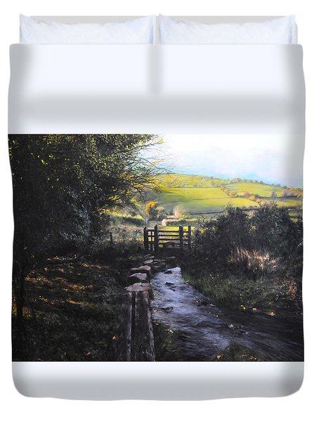 Towards Llanferres Duvet Cover